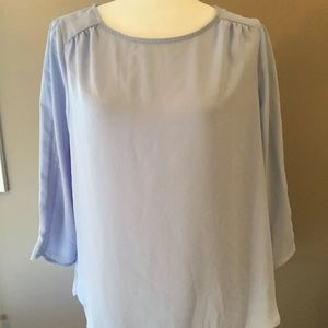 The Limited Large Scoop Neck Purple Sheer Blouse